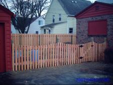 Cedar Concave 1x4x4 Spaced Fence