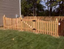 Cedar Concave 1x4x4 Spaced with Deco Posts