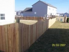 Cedar Concave 1x6x4 Half Inch Space with Deco Posts