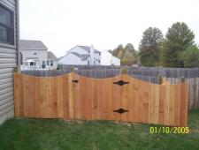 Cedar Concave 1x6x4 Privacy With Decorative Posts