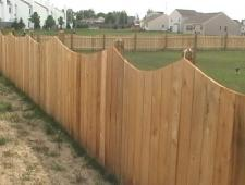 Cedar Concave 1x6x6 Privacy Fence