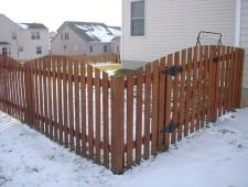 Cedar Convex 1x6x4 Two Inch Spaced With Cedar Rails
