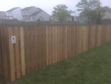 Cedar Dog Ear 1x4x4 Spaced Fence