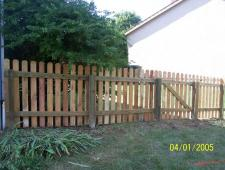 Cedar Dog Ear 1x4x4 Spaces With Pressure Treated Rails