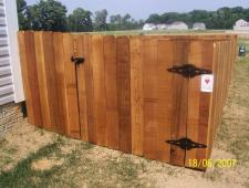 Cedar Dog Ear 1x6x4 Privacy Fence
