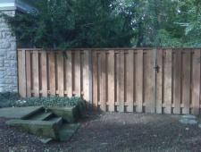 Cedar Shadow Box Fence With Cap