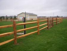 campitelli 3 rail split rail fence 001