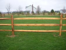 campitelli 3 rail split rail fence 002