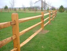 campitelli 3 rail split rail fence 003