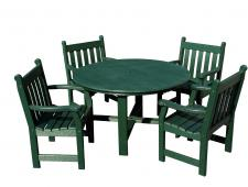Patio Table with English Chairs
