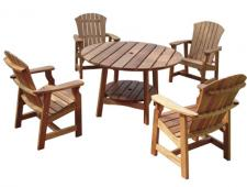 Picnic-Table-and-4-Deck-Cha