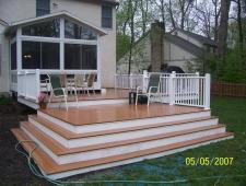 Composite Deck and Vinyl Rail