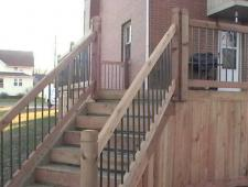 Wood Decks w-Metal Railing